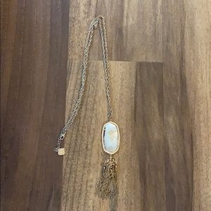 Kendra Scott rose gold tassel necklace ✨✨✨